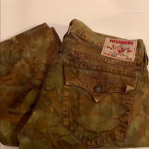 Camo true religion jeans